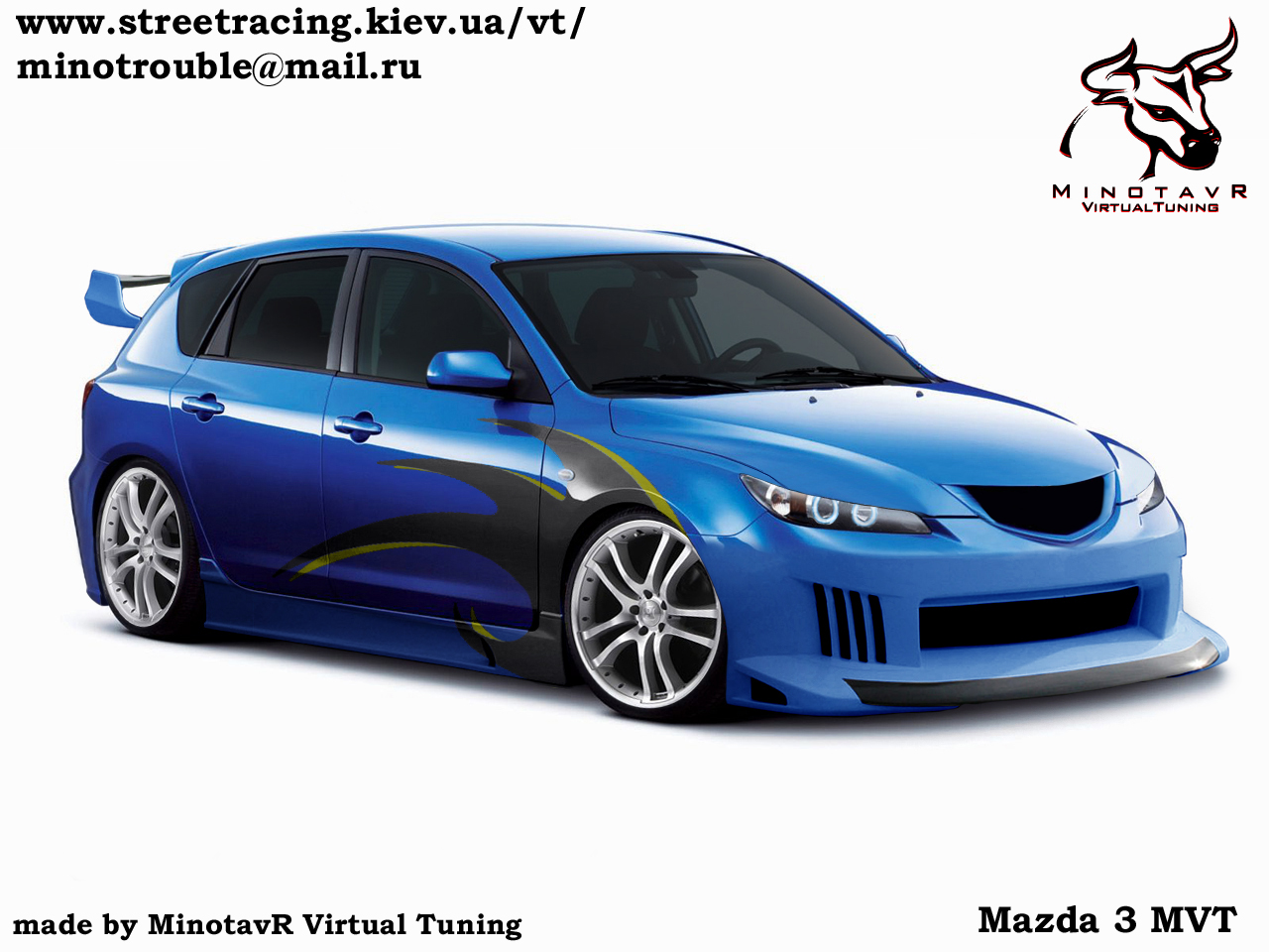 3dtuning of mazda 3 5 door hatchback 2004. Black Bedroom Furniture Sets. Home Design Ideas